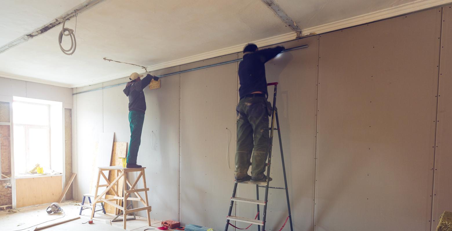 天井・壁の工事